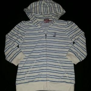Juicy Couture blue striped sweater hoodie …
